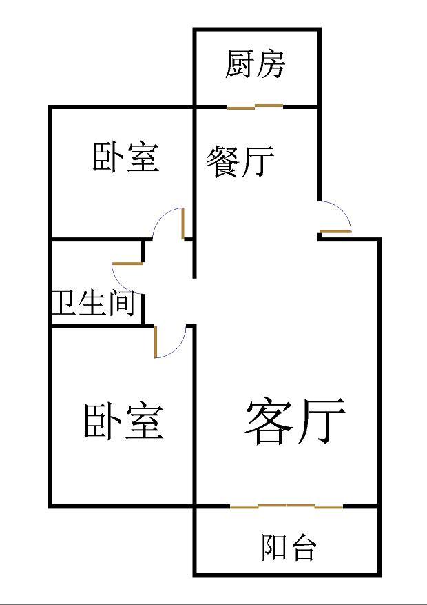 鑫龙家园 2室2厅  精装 120万