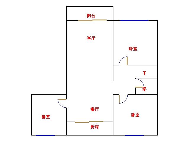 五环庄园 3室2厅 双证齐全 简装 123万