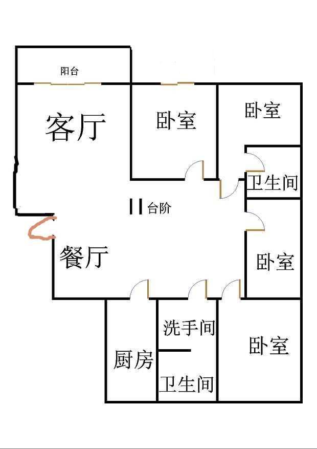 嘉诚尚东 4室2厅  精装 220万