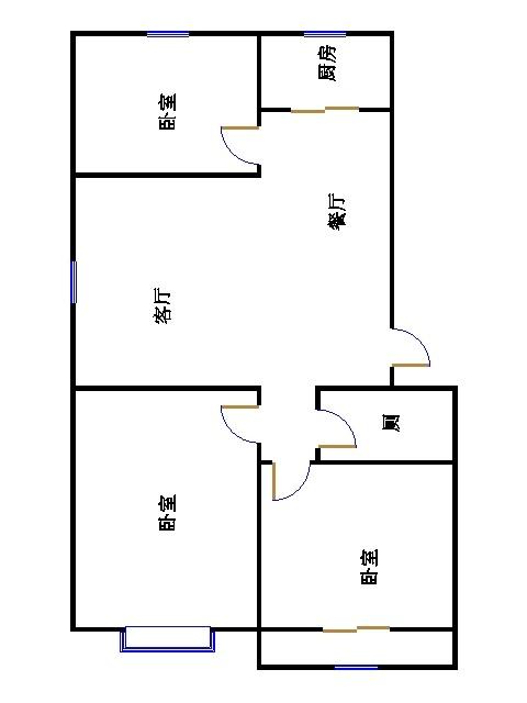 温馨家园 3室2厅 3楼