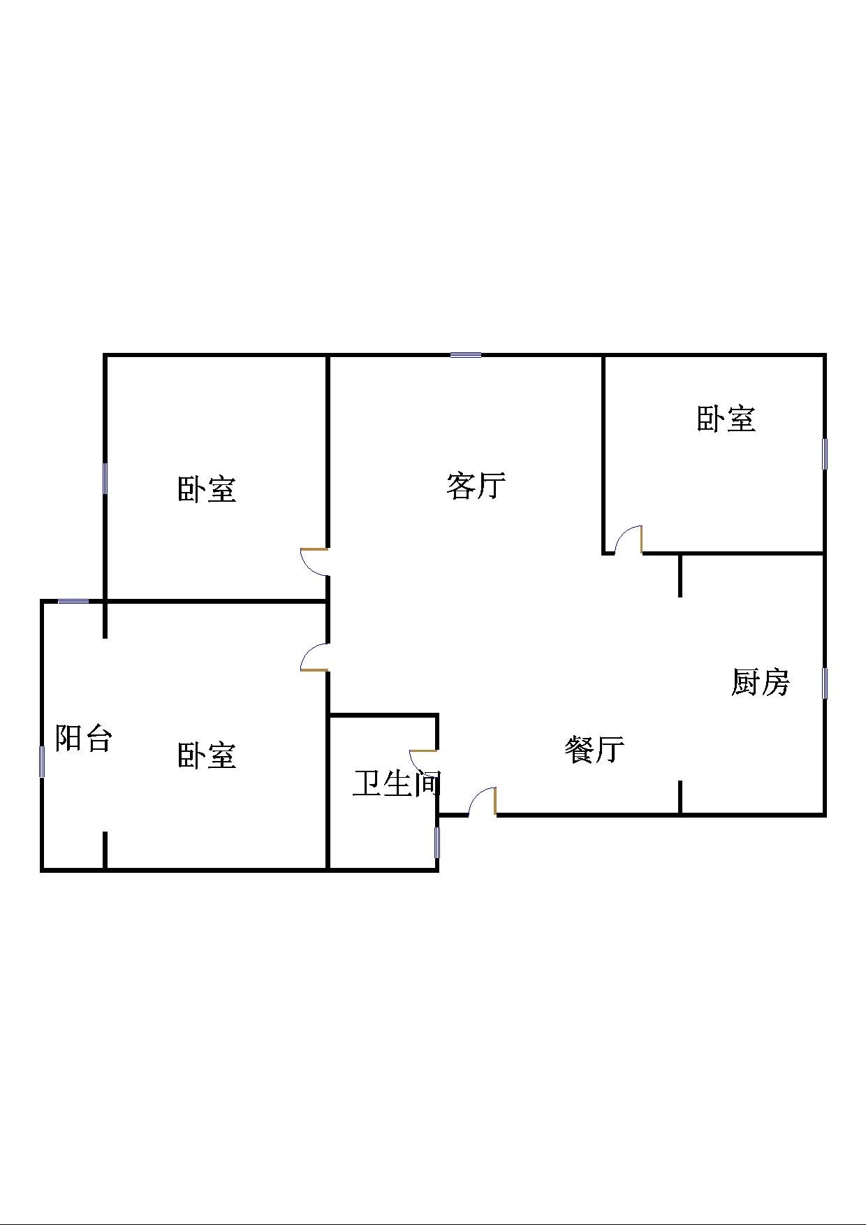 锦苑 3室2厅 5楼