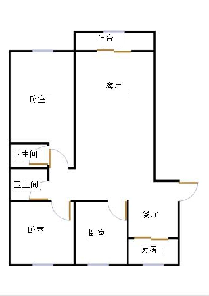东方明珠小区 3室2厅  精装 258万