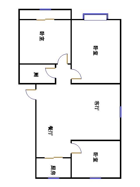 温馨家园 3室2厅 1楼