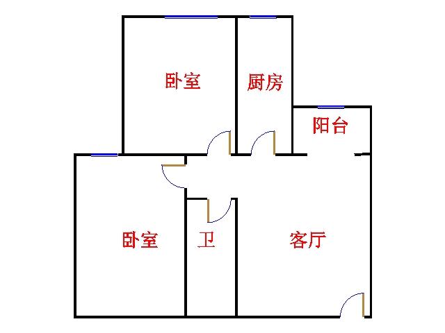尚城国际 2室2厅 12楼