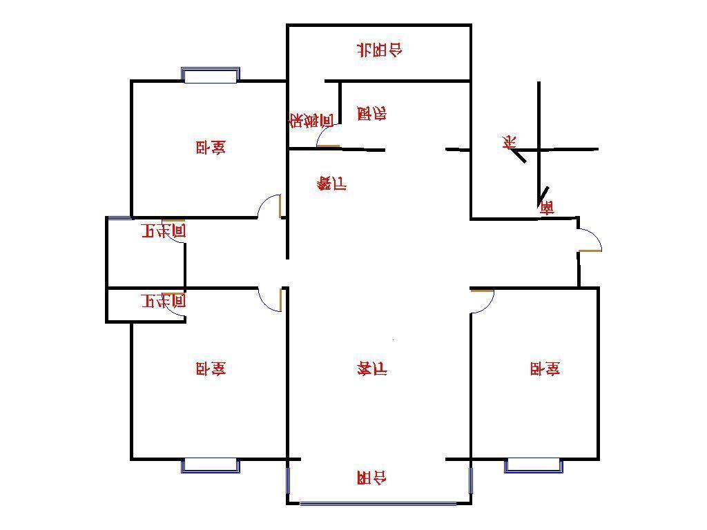 凯旋花园 3室2厅 13楼