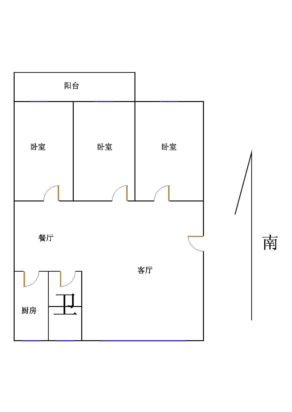 金光集团宿舍 3室2厅  简装 110万