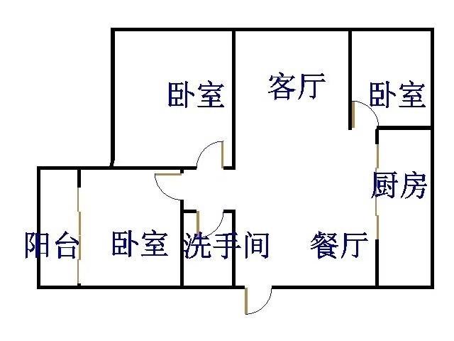 华宇国际公寓 3室2厅 过五年 简装 108万