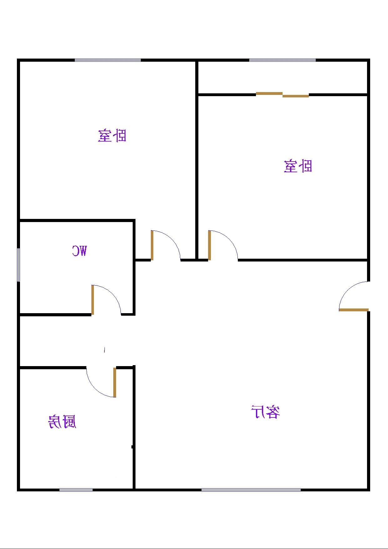 石化家园 2室2厅 双证齐全过五年 简装 80万
