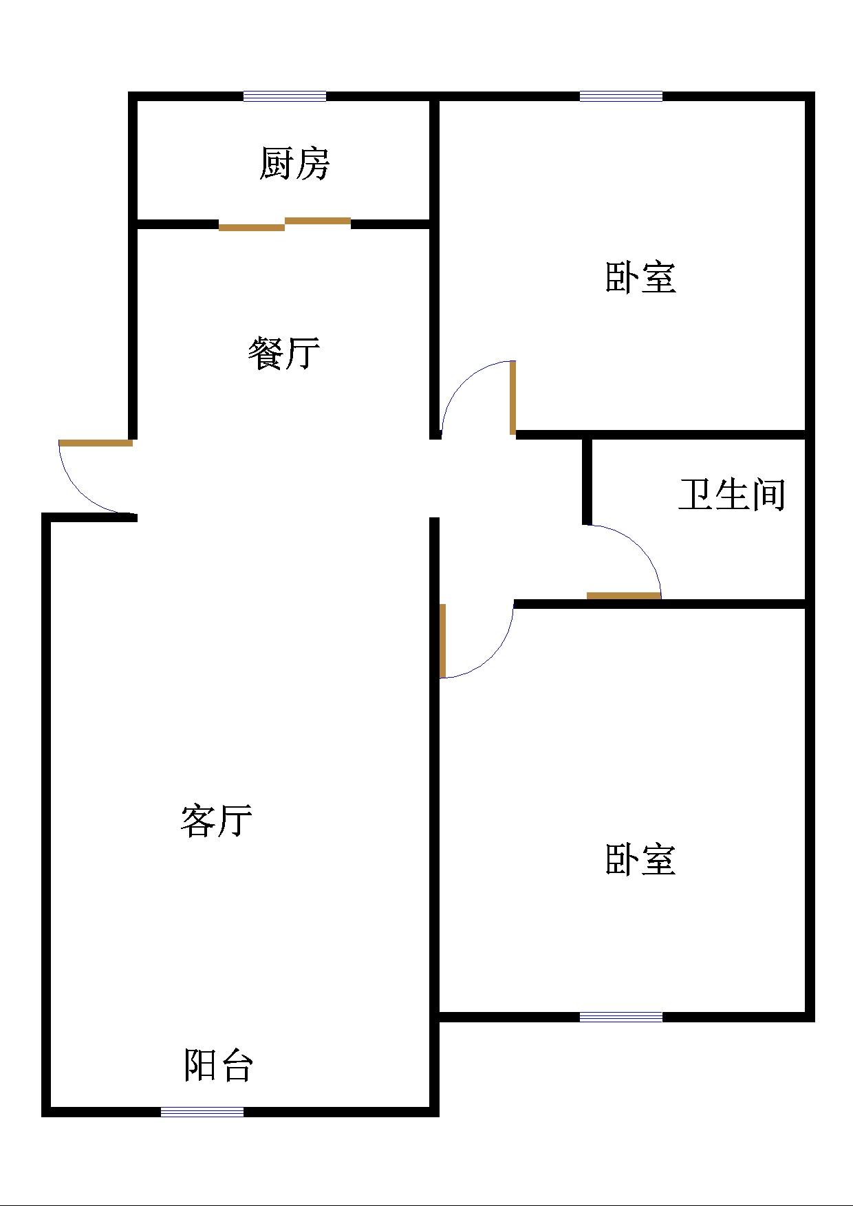 华清庄园 2室2厅  精装 98万
