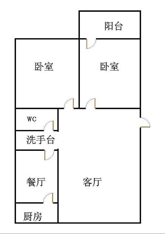 天华锦绣园 2室2厅  简装 115万