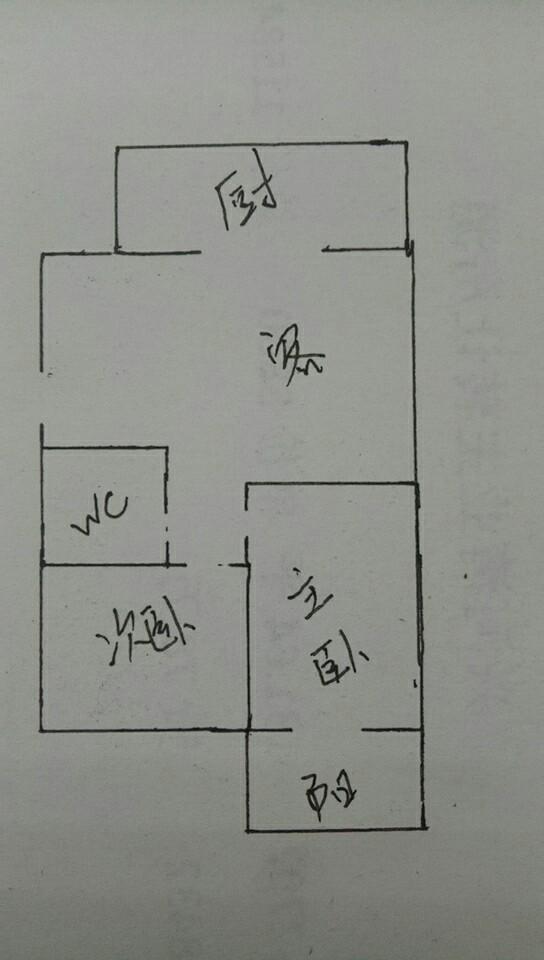 长河小区 2室2厅 4楼