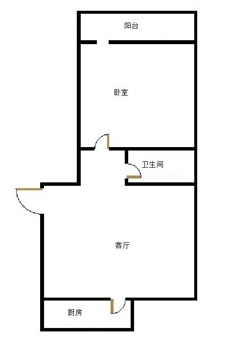 长河小区 1室1厅 双证齐全过五年 简装 46.5万