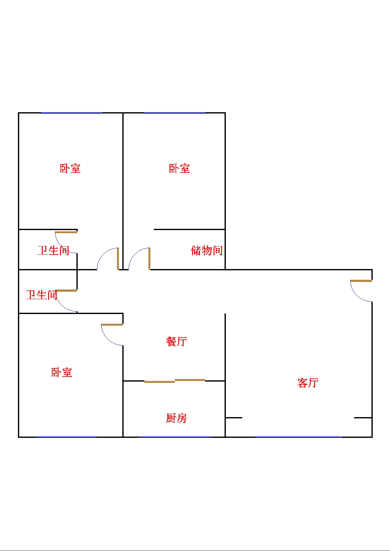 康博公馆 3室2厅  精装 210万
