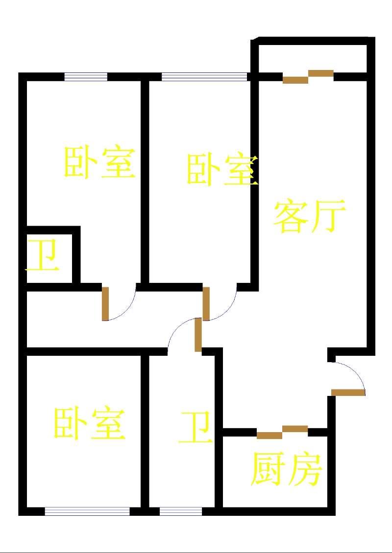 五环庄园 3室2厅 双证齐全过五年 简装 182万