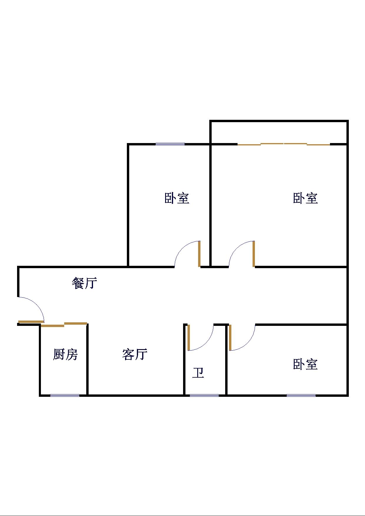 鲁班御景国际 3室2厅 双证齐全 精装 135万