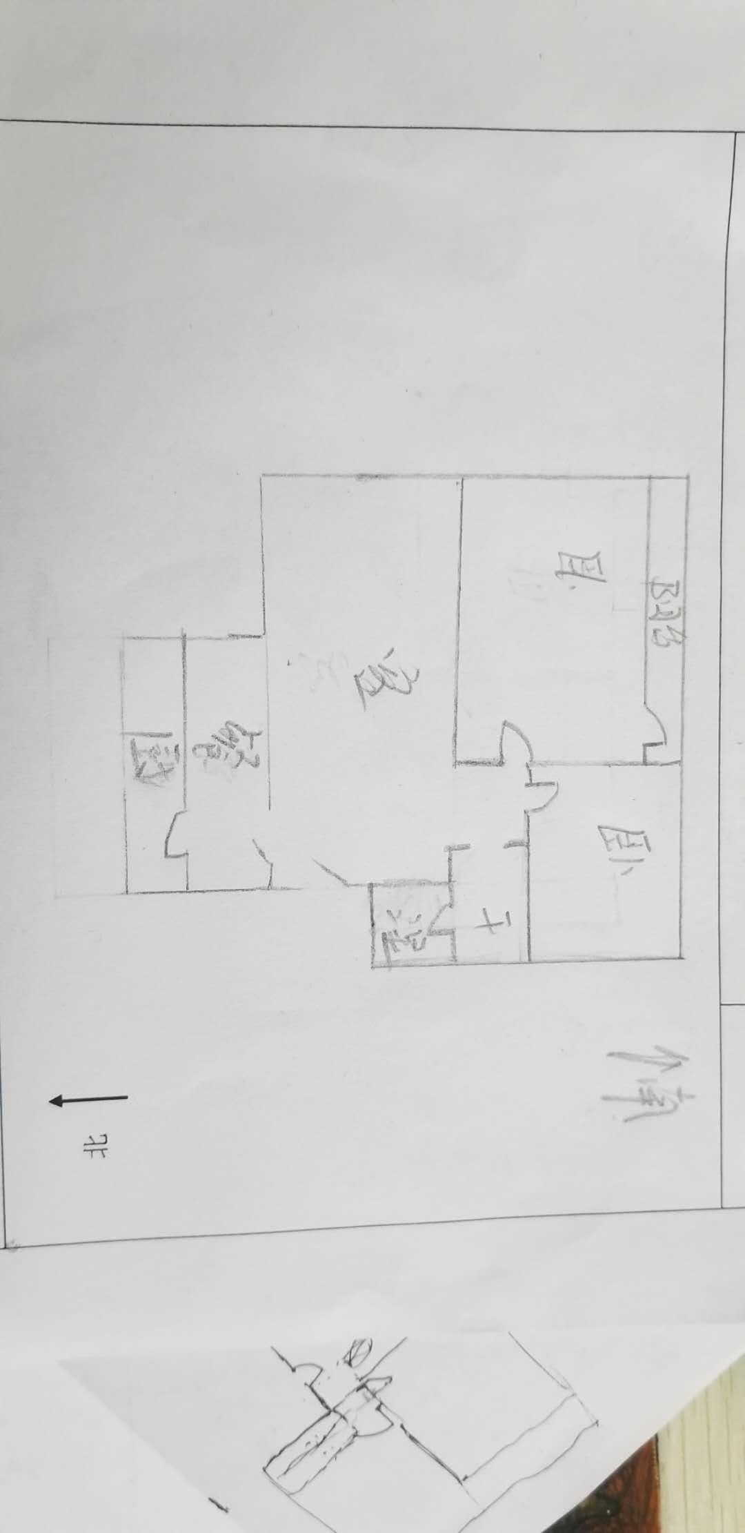 农业银行宿舍 2室2厅 6楼
