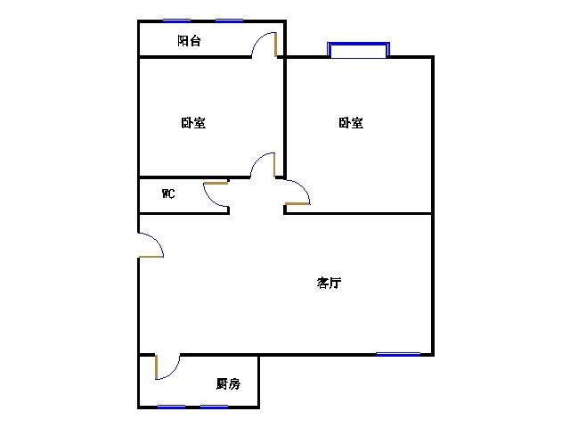 北苑新邸 2室2厅 双证齐全 简装 40万