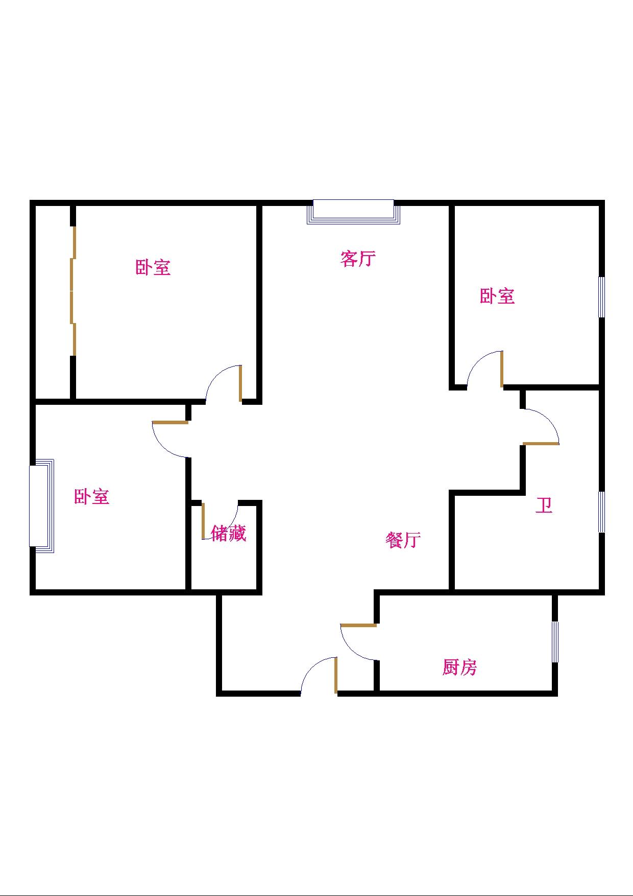 中建华府(欧香丽都) 3室2厅 双证齐全 简装 152万