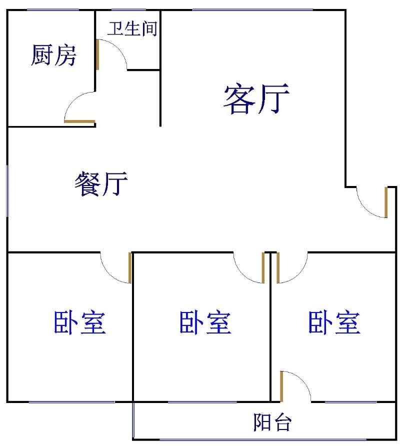 农科所宿舍 3室2厅 双证齐全 简装 170万