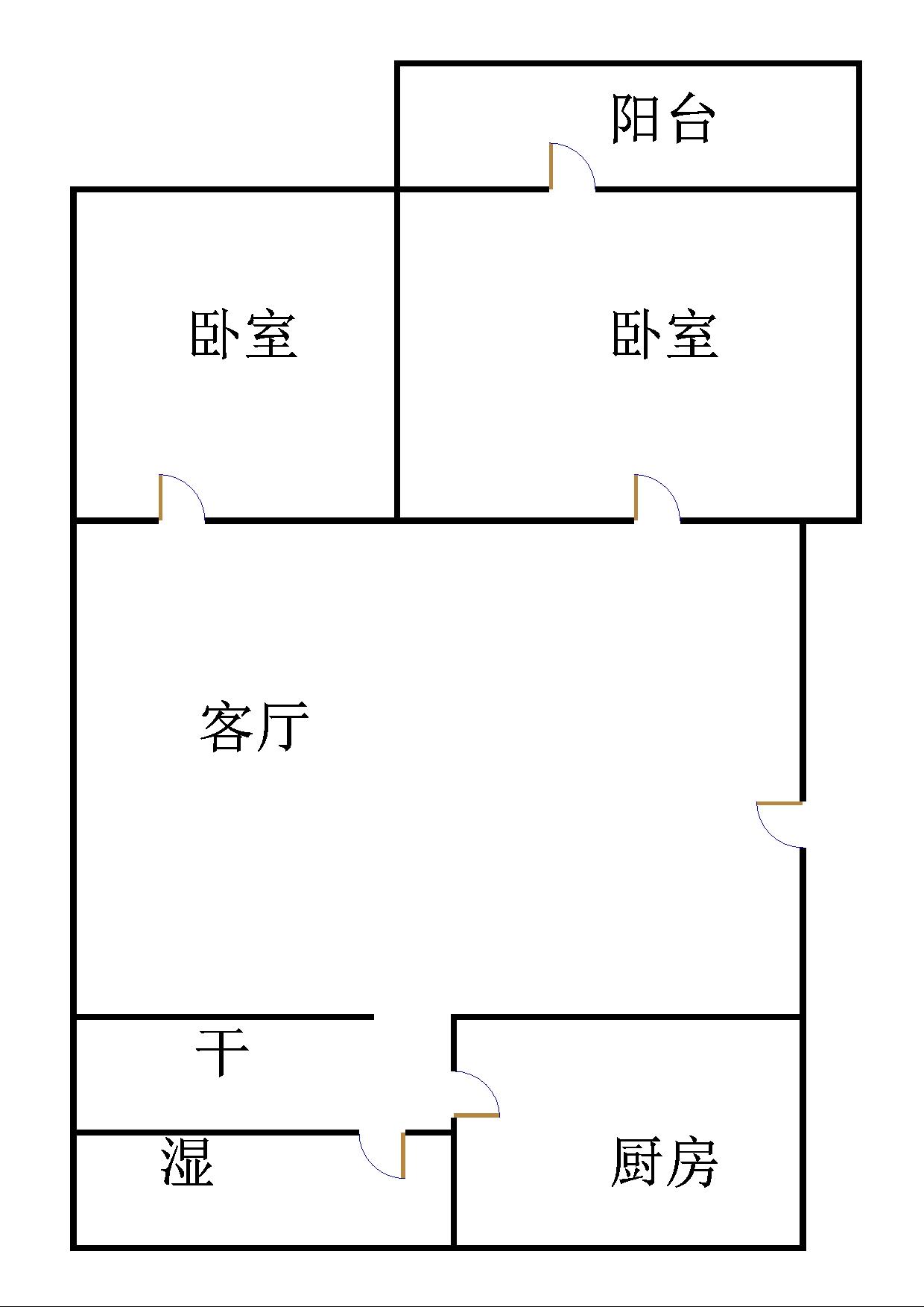 长青小区 2室2厅 5楼
