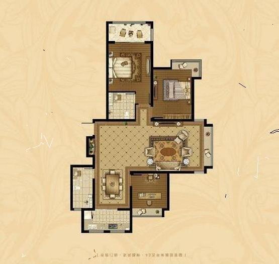 东海香港城 3室2厅 32楼