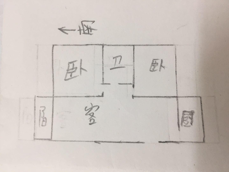 双环佳苑 2室2厅  简装 90万