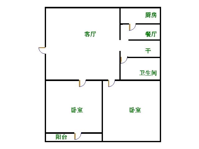 刨花板厂宿舍 2室2厅  简装 55万