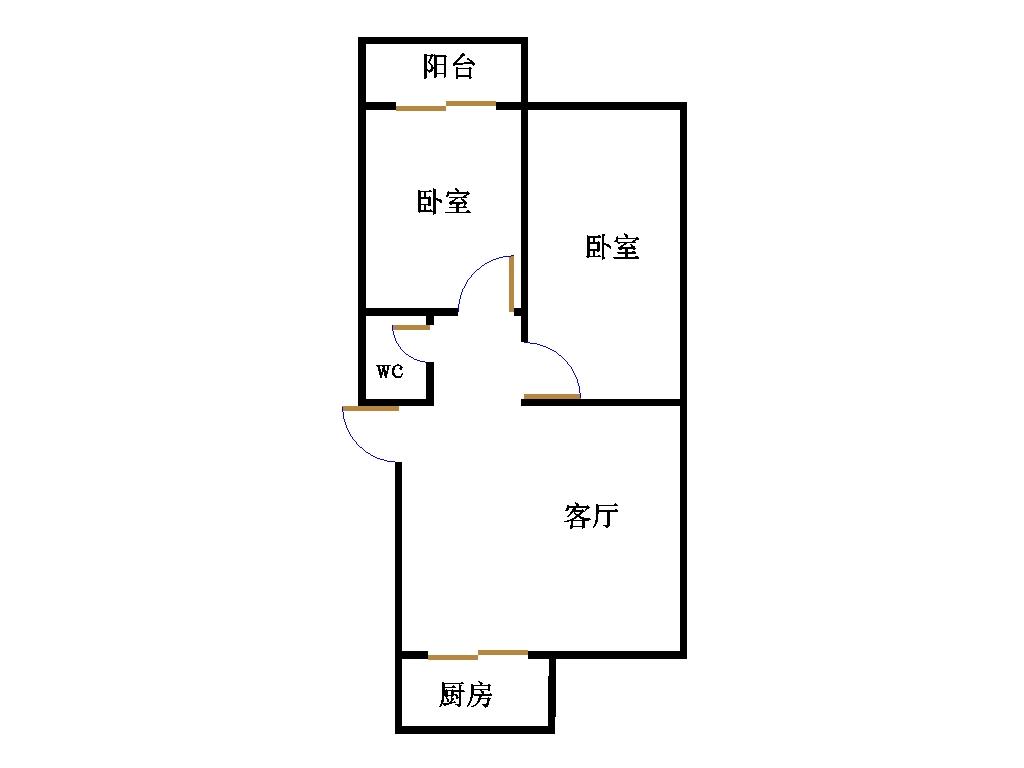 欣王嘉苑 2室2厅 3楼