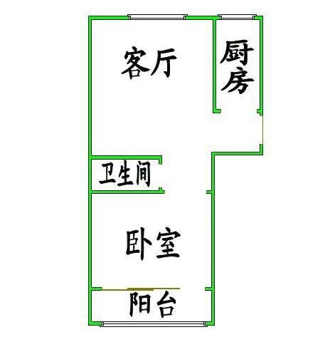 金卉小区 1室1厅 6楼