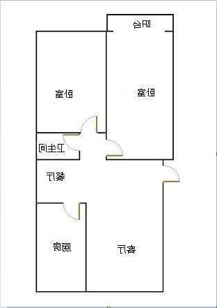 锦苑 2室2厅 4楼
