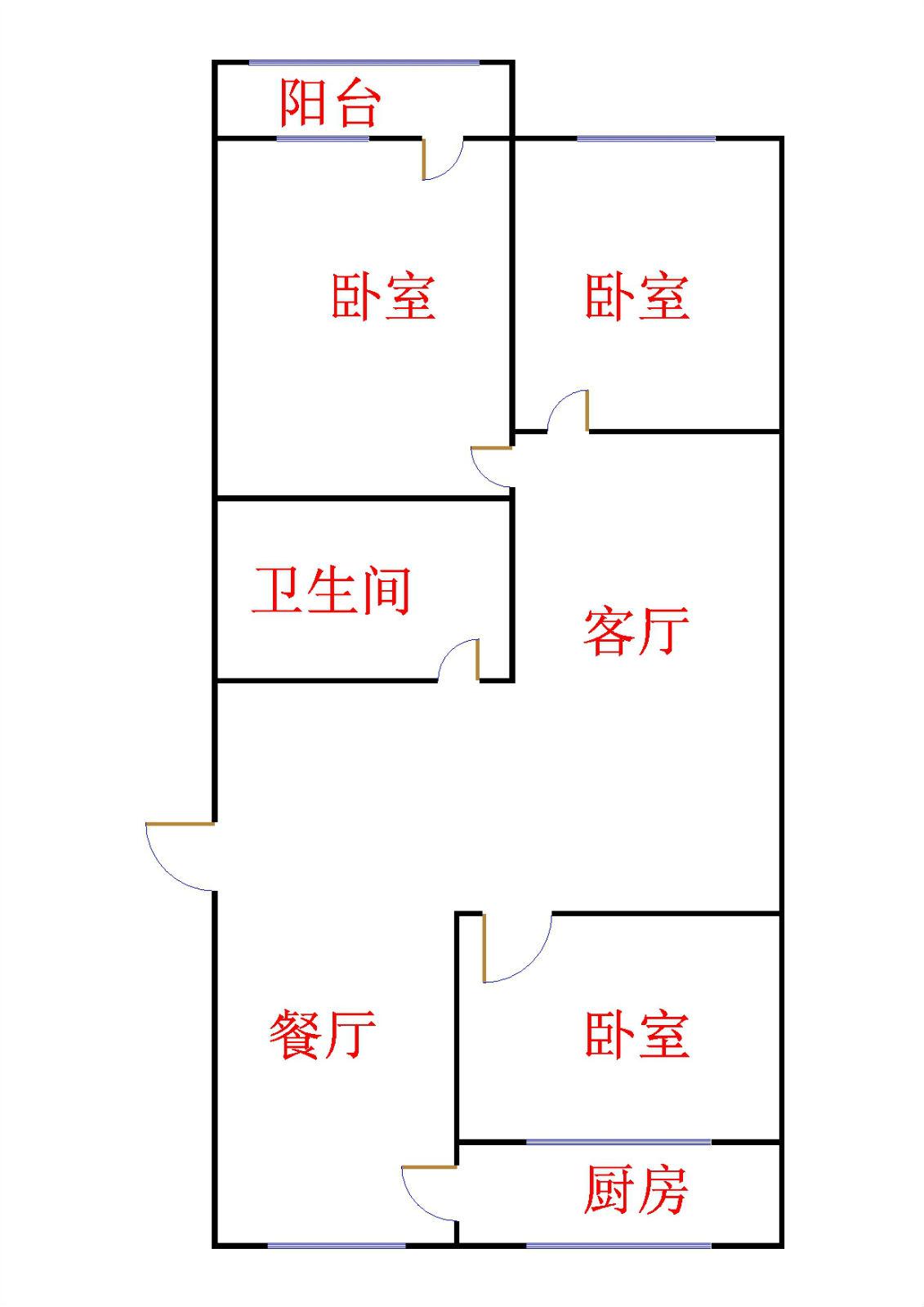 贵康家园 3室2厅 4楼