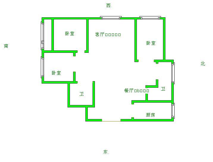 中建华府(欧香丽都) 4室2厅 2楼