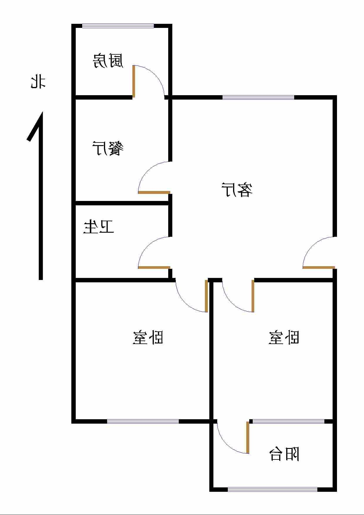 十三局宿舍东区 2室1厅 双证齐全过五年 简装 69万