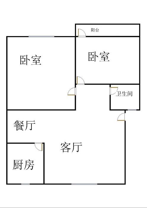 北苑新邸 2室1厅 双证齐全过五年 简装 72万