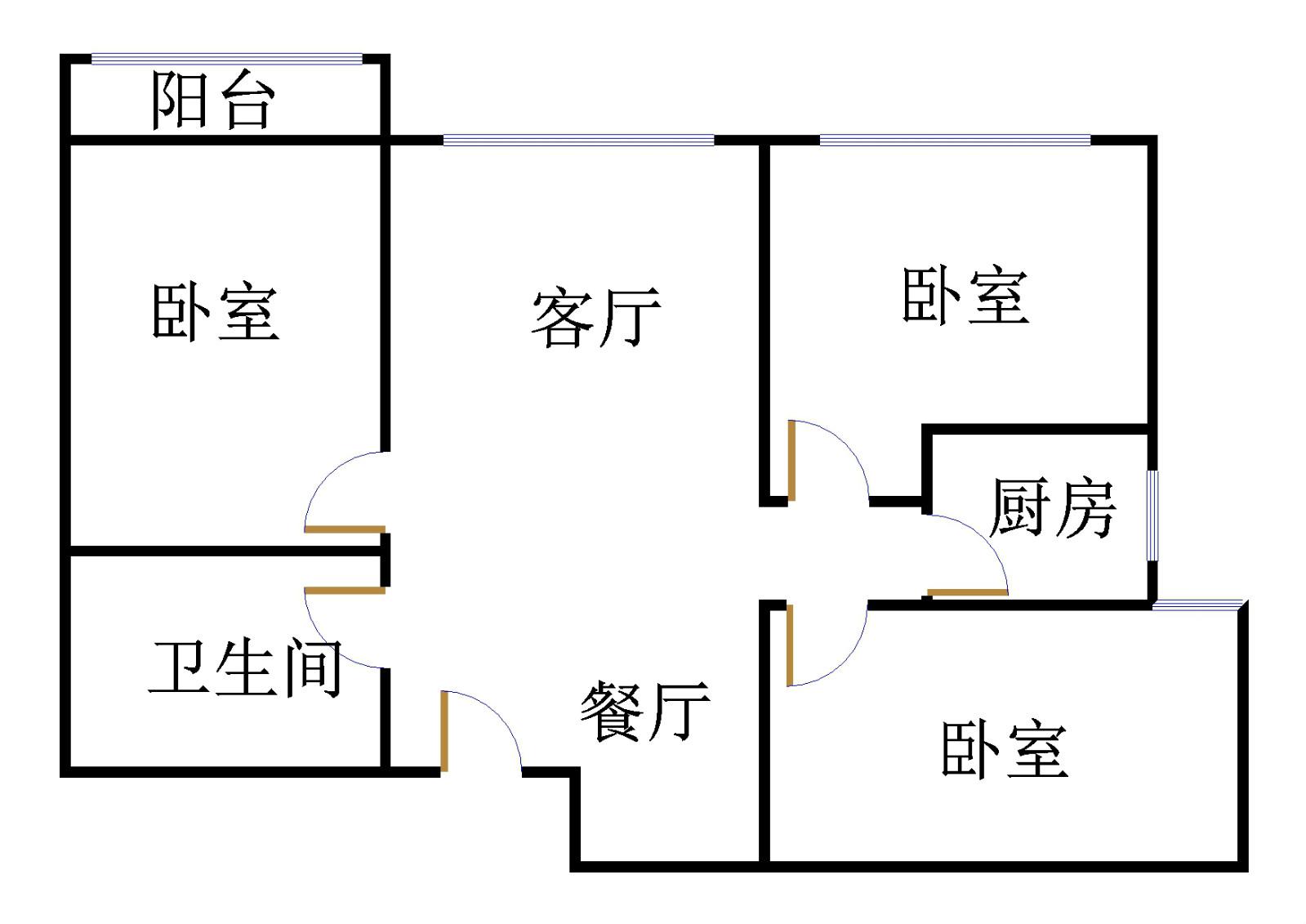 东海香港城 3室2厅  精装 135万