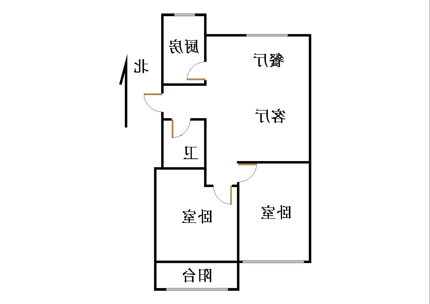 绿城百合家园 2室2厅 4楼