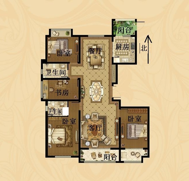 东海香港城 4室2厅  毛坯 220万