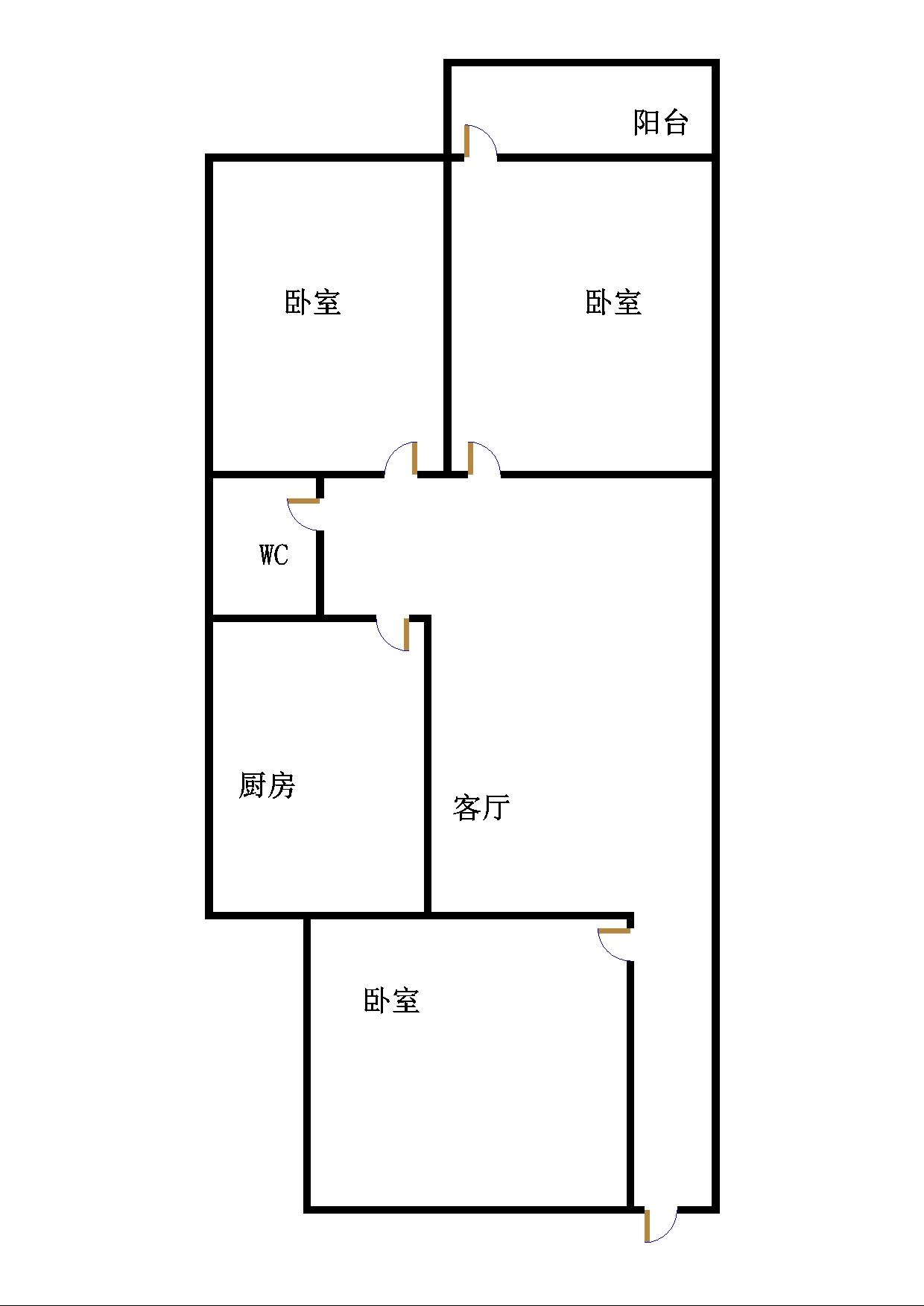 北园小区 3室1厅 5楼