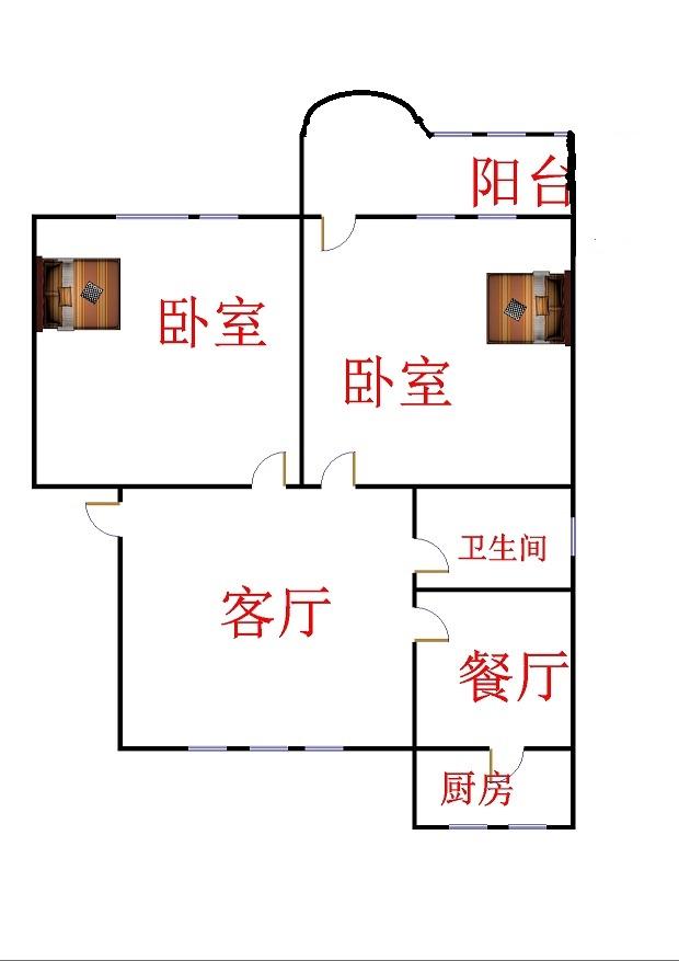 晶峰宿舍 2室1厅 3楼