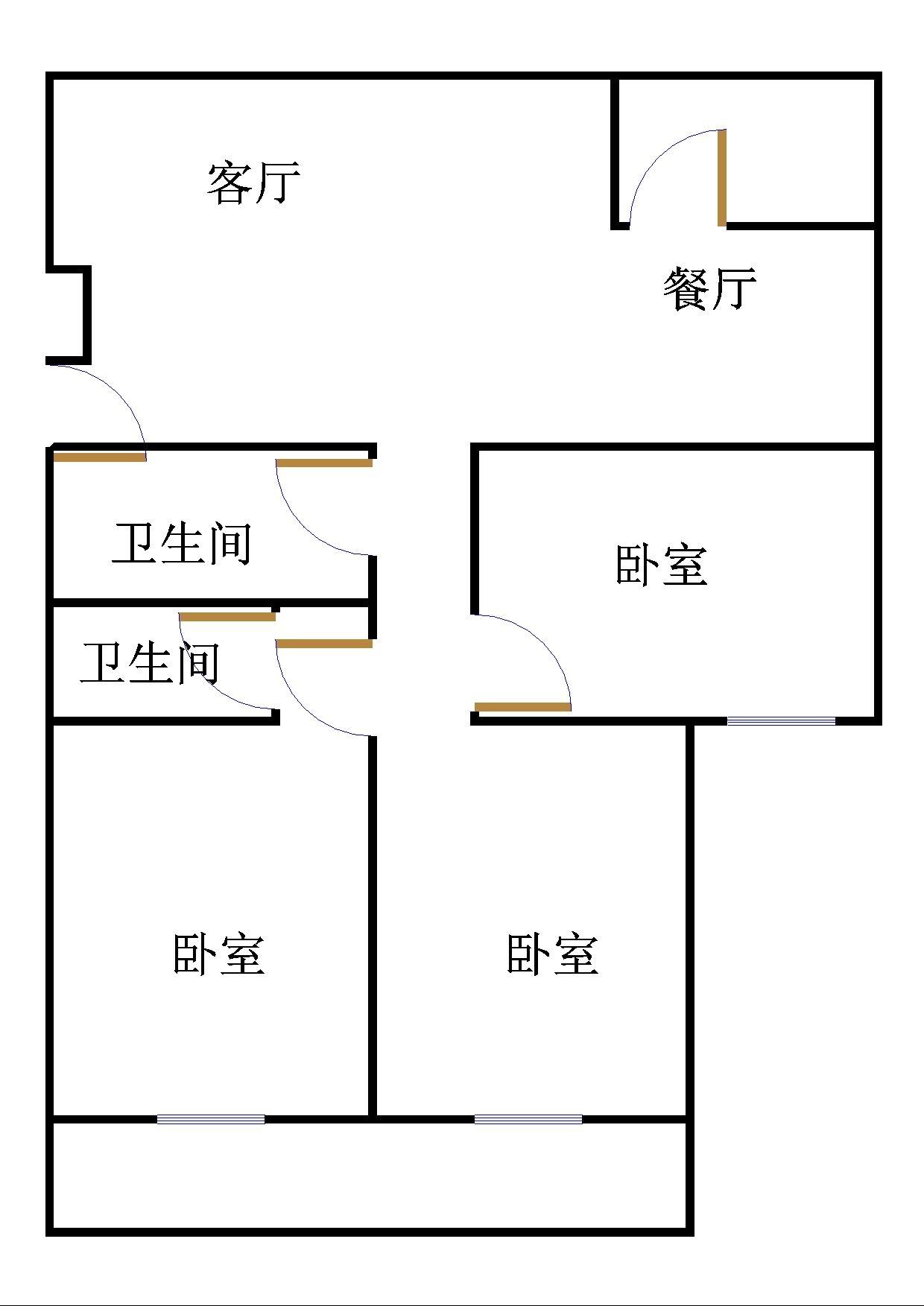 金地华城 4室2厅  简装 130万