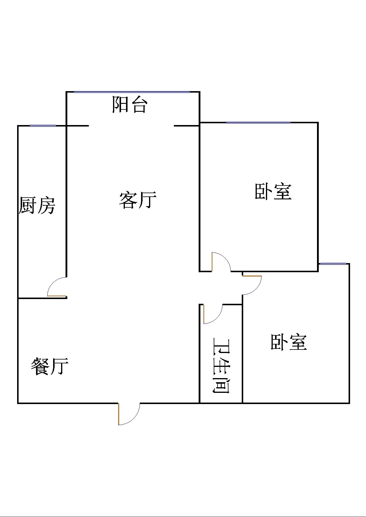 嘉城盛世 2室2厅  简装 105万