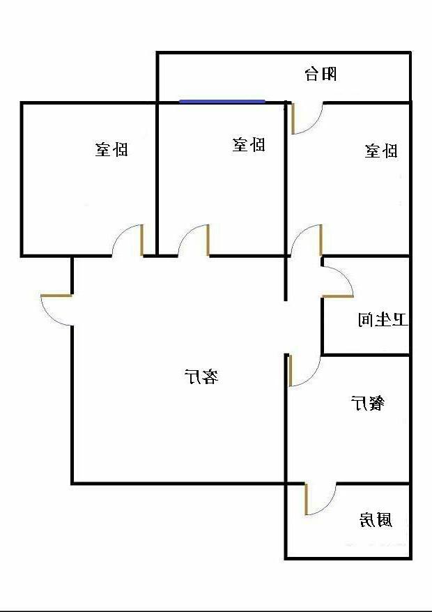 丰华小区 3室2厅  简装 88万