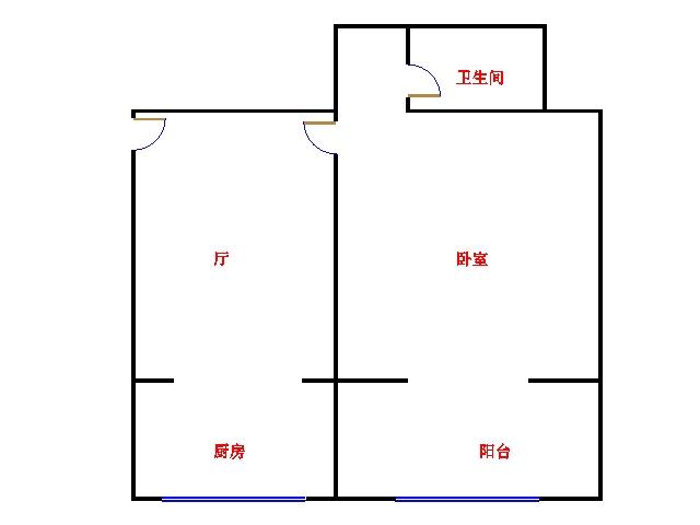 金茂豪庭 1室1厅  简装 55万