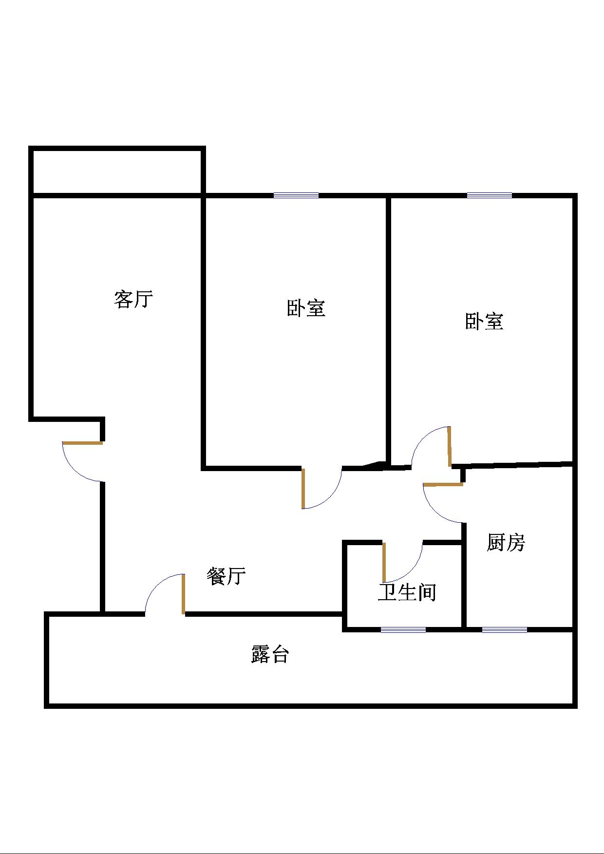 嘉诚尚东 2室1厅  简装 85万
