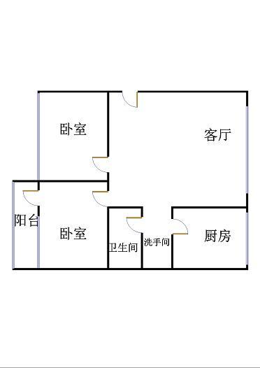 肖何庄小区 3室2厅  简装 50万