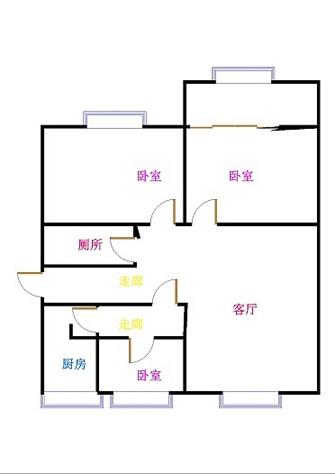 桦泰家园 3室2厅 双证齐全过五年 简装 95万