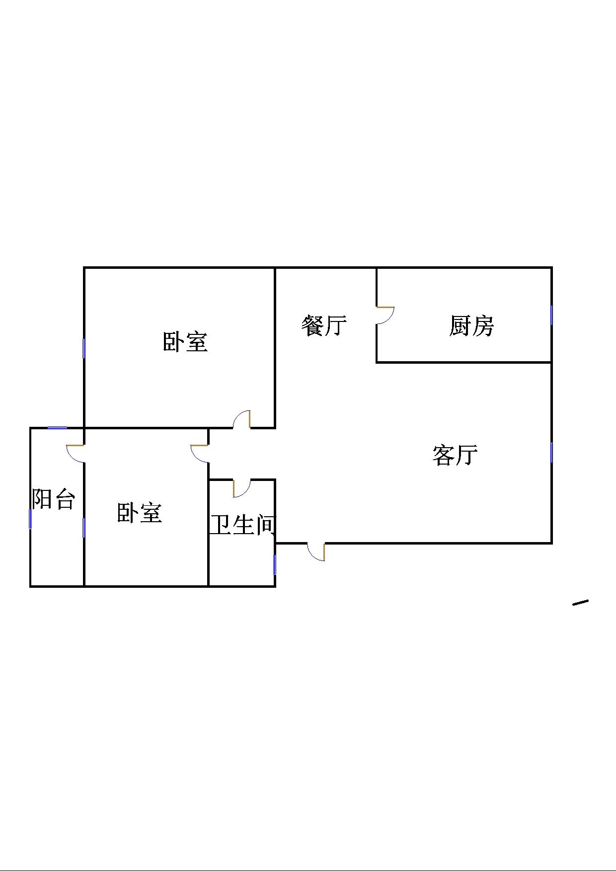 西长新村 3室2厅  毛坯 50万