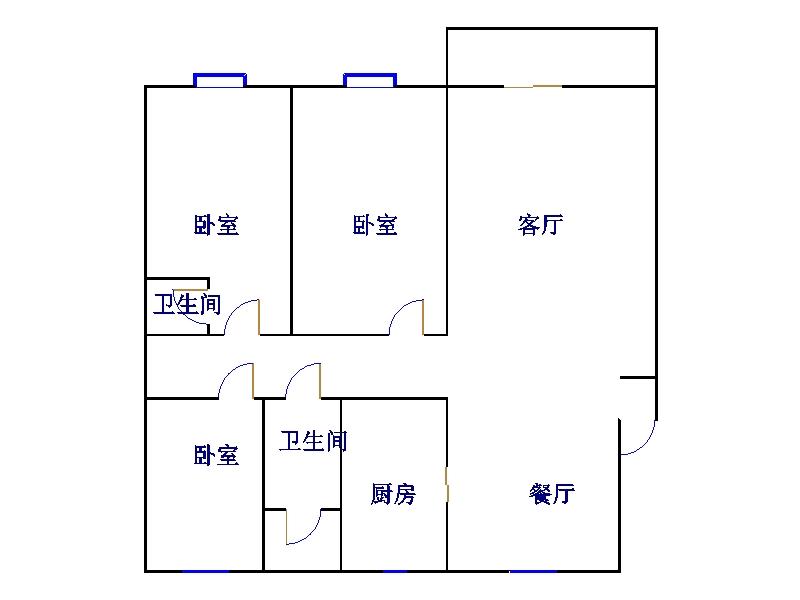 华宇国际公寓 3室2厅  精装 190万