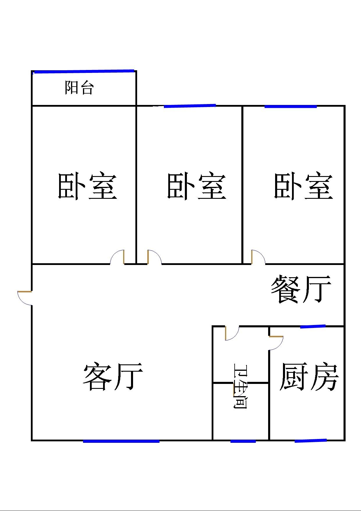 运河鑫城 3室2厅 5楼
