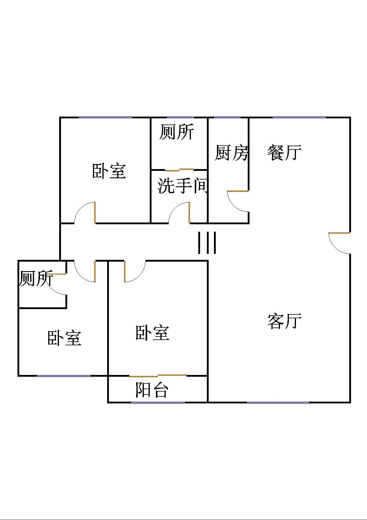 工商分局宿舍(开发区) 3室2厅 双证齐全 简装 122万